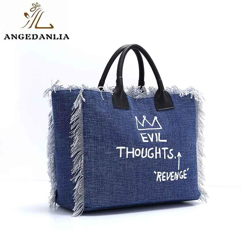 pink personalised canvas bags designers for lady ANGEDANLIA