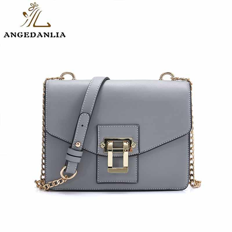 PU and luxury gold color ladies shoulder crossbody bag
