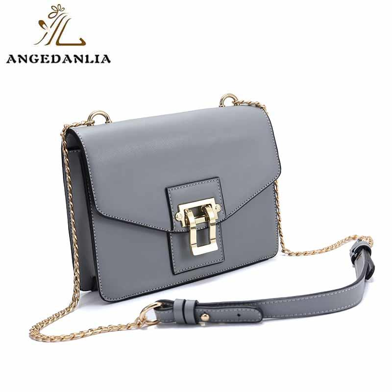 leather crossbody bag round for work ANGEDANLIA