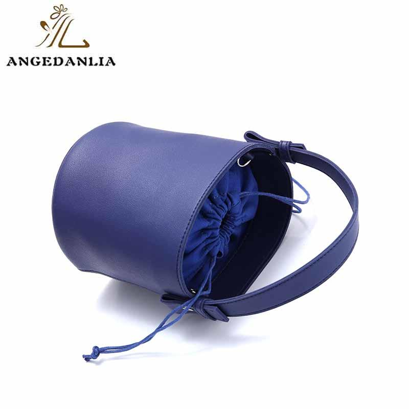 Wholesale bucket leather weekend bag powder ANGEDANLIA Brand