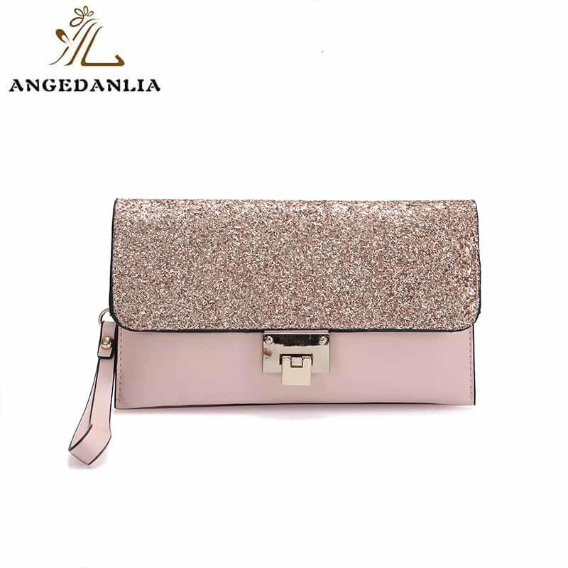 Shine powder women and ladies envelope clutch bag tote handbag bag