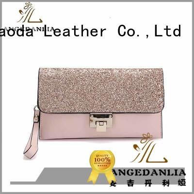 ANGEDANLIA simple brown leather tote bag manufacturer for work