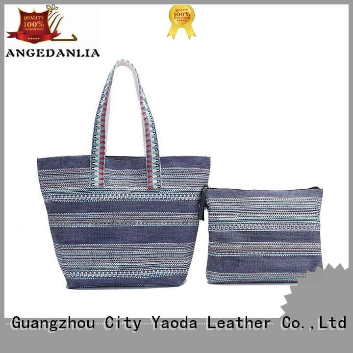 ANGEDANLIA casual large canvas bag with zipper for shopping