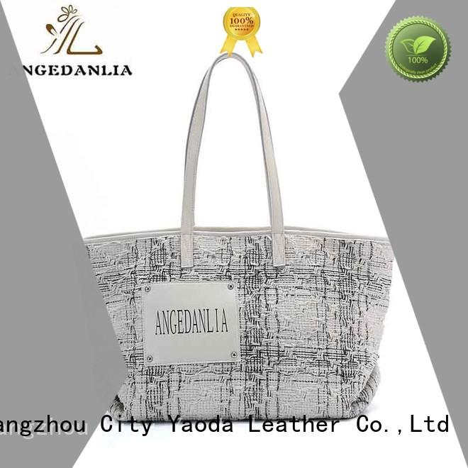 Wholesale fashion top canvas tote bags ANGEDANLIA Brand