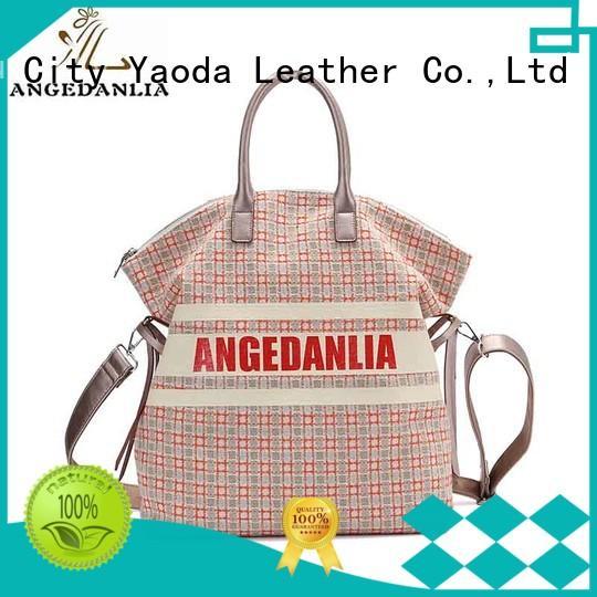 handbags canvas bag with zipper for shopping ANGEDANLIA