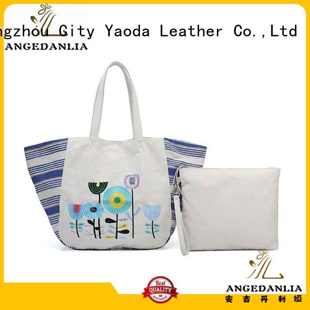 simple fashion ANGEDANLIA Brand canvas tote bags
