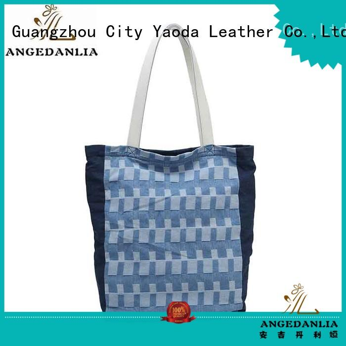 ANGEDANLIA handbags canvas leather tote bag online for lady