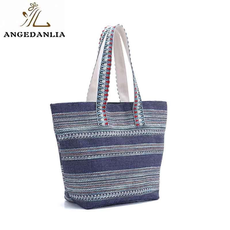 ANGEDANLIA cross personalised canvas bags with zipper for lady-1