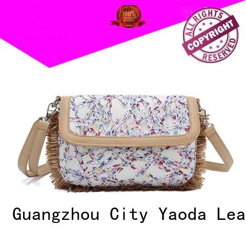 ANGEDANLIA fashion canvas and leather handbags Chinese for lady