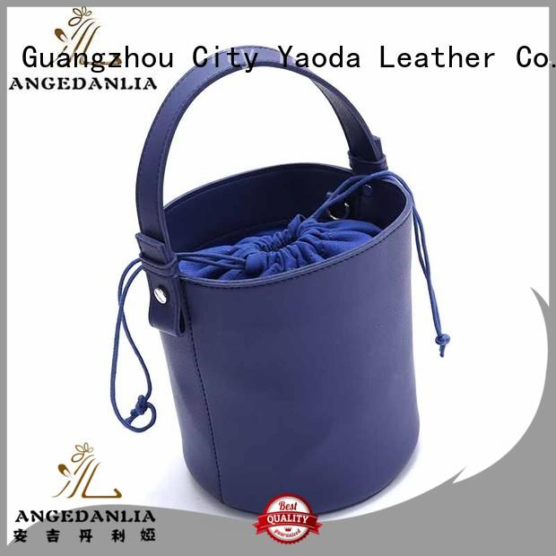 ANGEDANLIA fashion black leather tote bag supplier for work