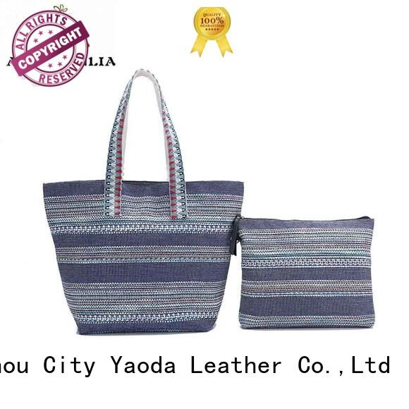 customized canvas bag with leather straps online for daily life