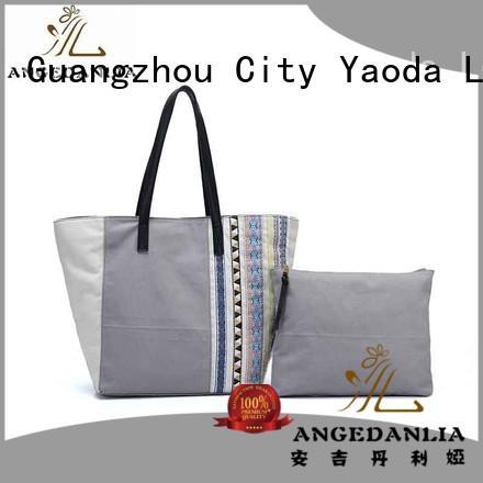 canvas bag design crossbody travel ANGEDANLIA Brand canvas tote bags