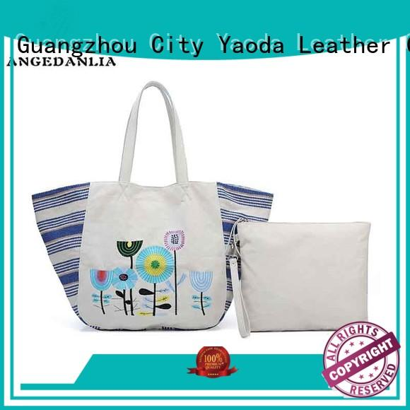 ANGEDANLIA unique canvas handbags with zipper for lady
