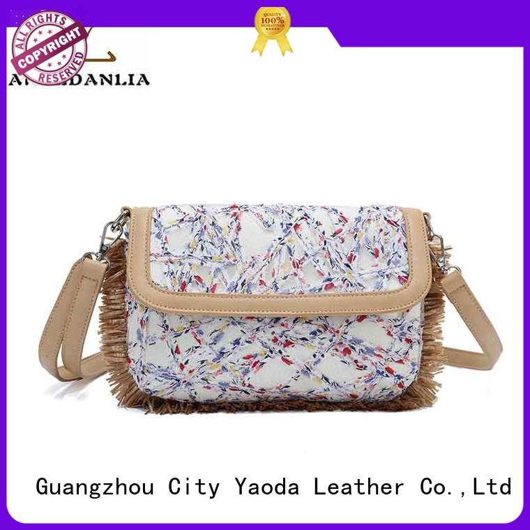 ANGEDANLIA designer small canvas bags with zipper for shopping