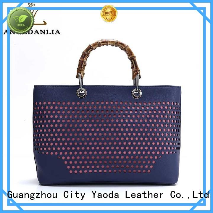 ANGEDANLIA simple leather crossbody purse handle for school
