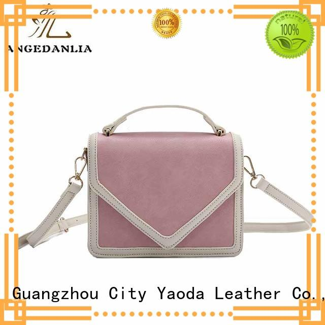 Quality ANGEDANLIA Brand leather weekend bag tote bamboo
