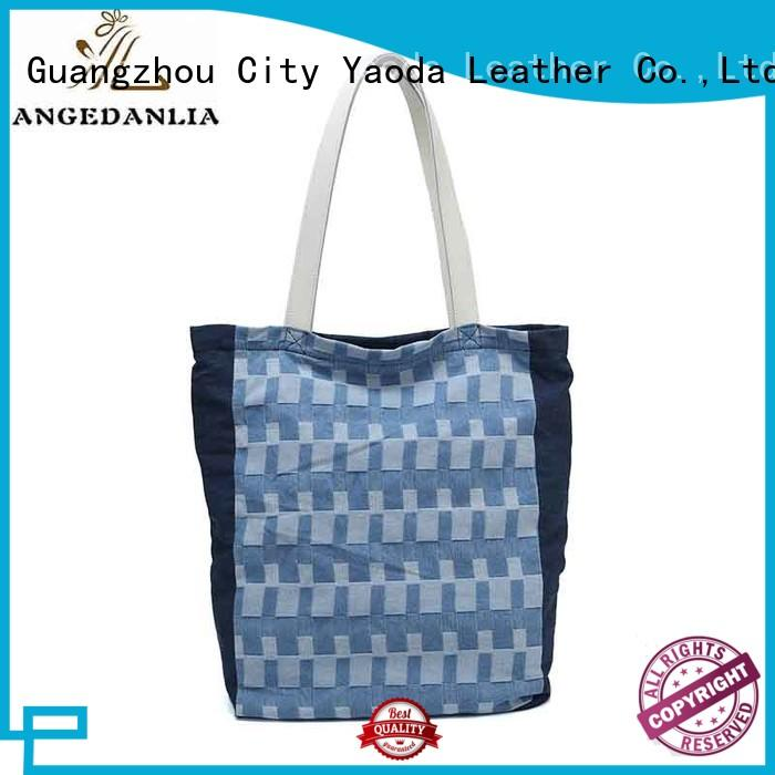 womens black canvas bag Chinese for shopping ANGEDANLIA