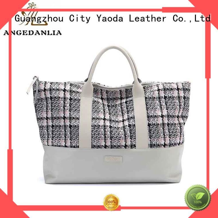ANGEDANLIA popular plain canvas bag genuine for lady