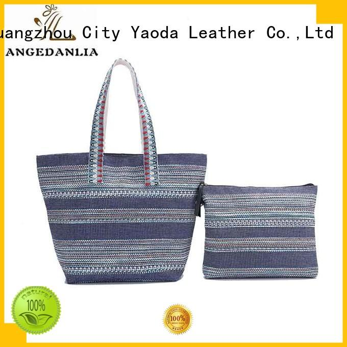 ANGEDANLIA bags black canvas tote bag online for daily life