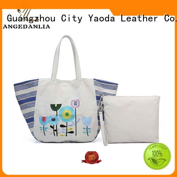 ANGEDANLIA popular designer canvas tote bags rky0742 for travel