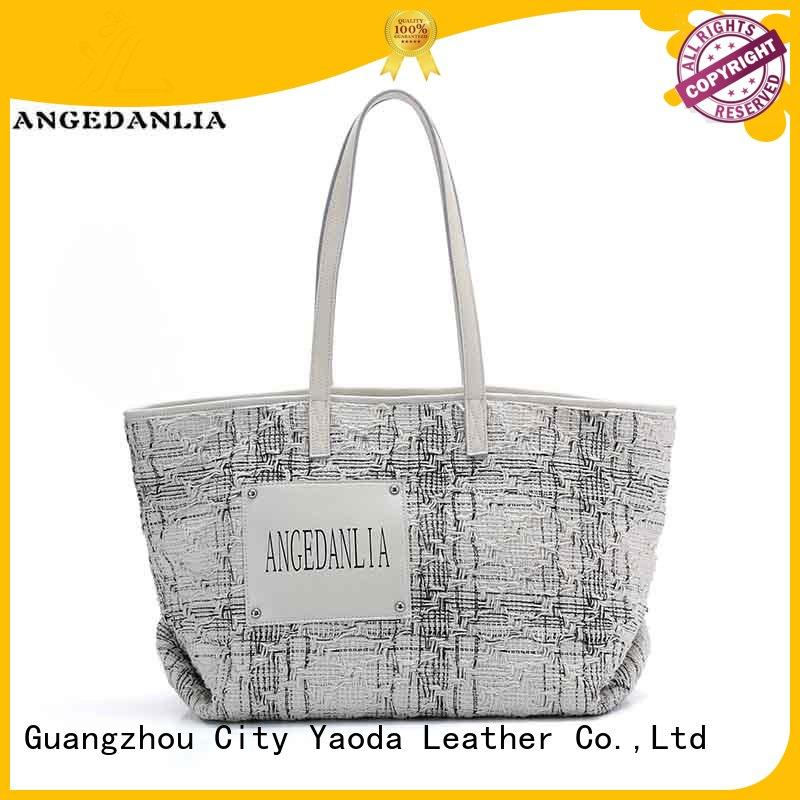ANGEDANLIA casual black canvas tote travel for shopping