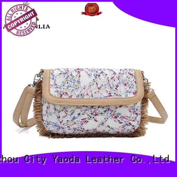 ANGEDANLIA travel canvas and leather tote bag with zipper for shopping