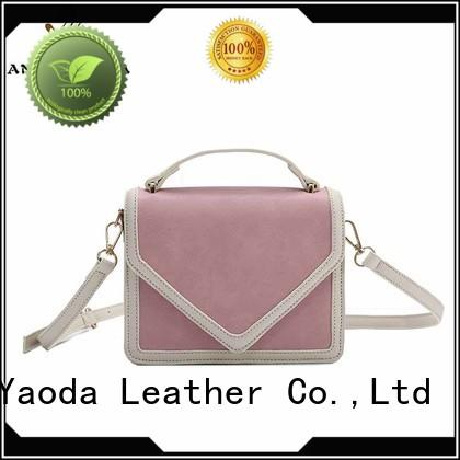 ANGEDANLIA fashion purple leather handbags on sale for daily life