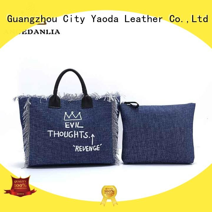 fashion canvas shoulder tote bag promotional online for daily life