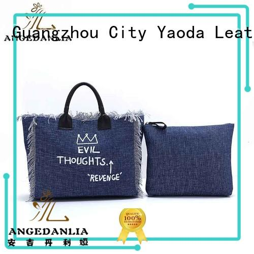 canvas bag design crossbody lady ANGEDANLIA Brand canvas tote bags