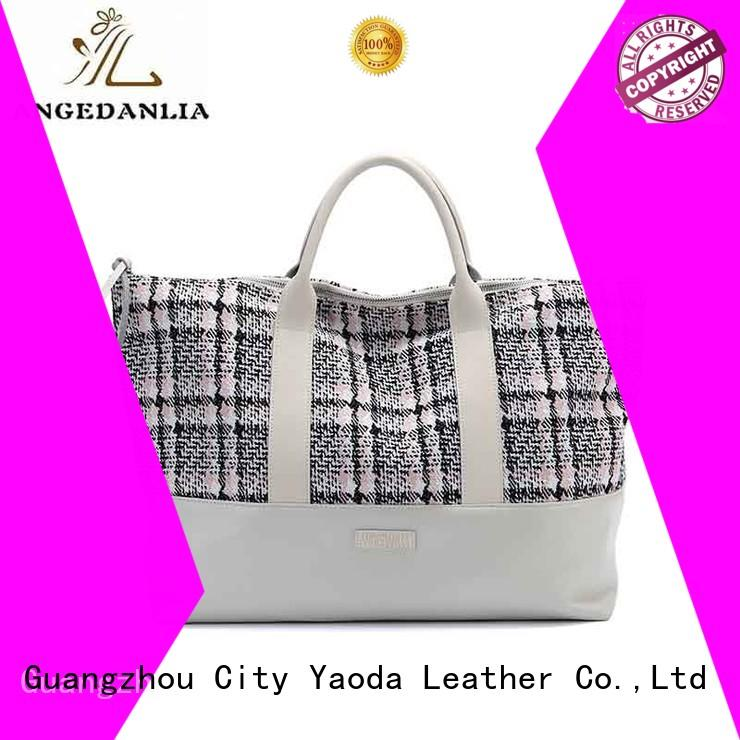 ANGEDANLIA casual canvas tote shopper bag online for travel