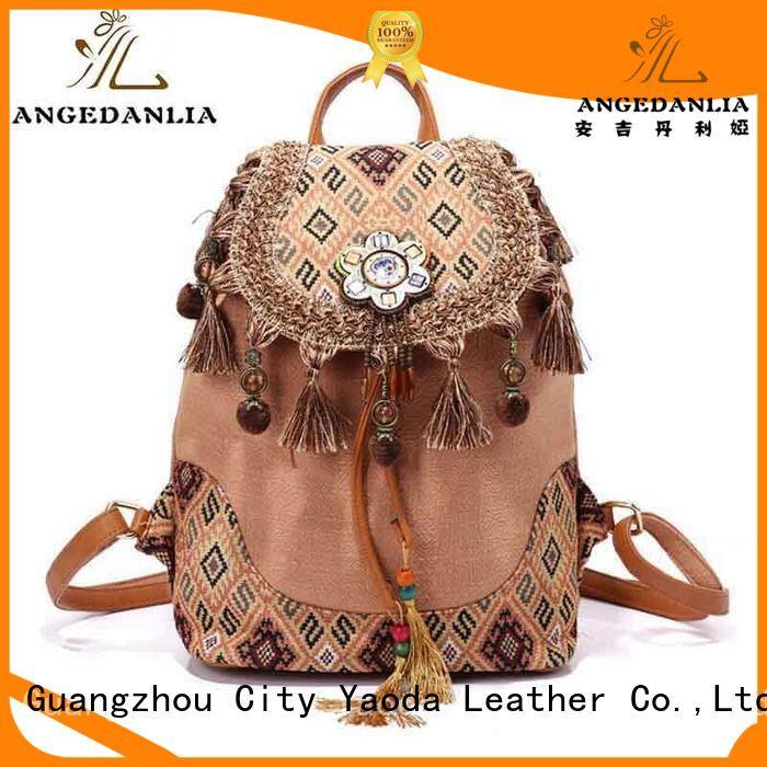 ANGEDANLIA colorful bohemian bucket bag good quality for women