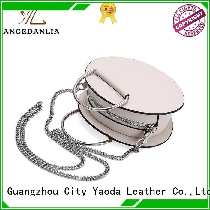ANGEDANLIA fashion pu leather bag silver for school