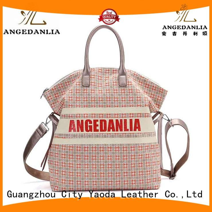 shoulder canvas canvas bag design cotton logo ANGEDANLIA Brand