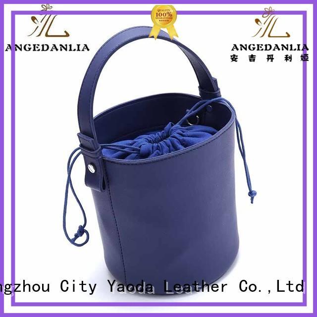 shoulder pu leather bag manufacturer for daily life