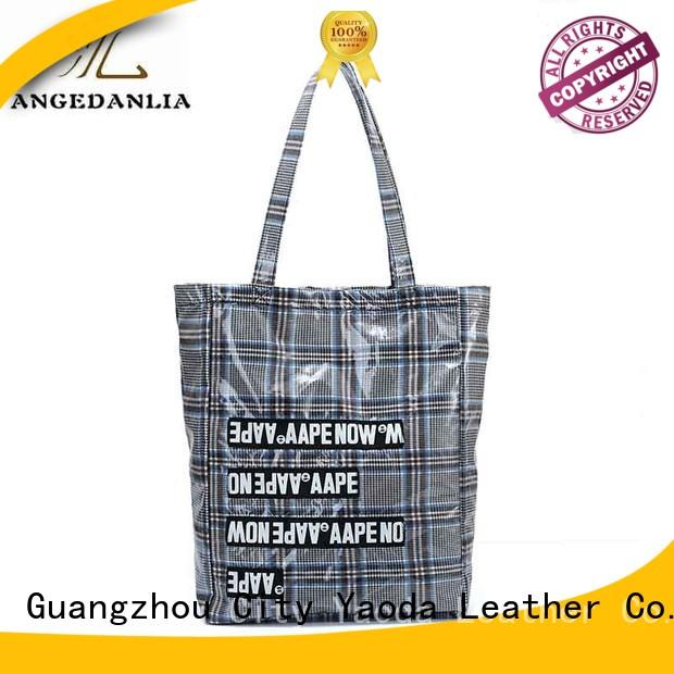 ANGEDANLIA large personalized canvas tote bags Chinese for lady