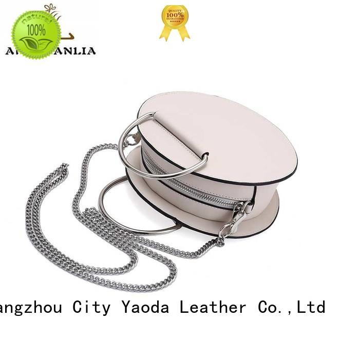 Custom bucket leather crossbody bag clutch ANGEDANLIA