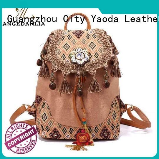ANGEDANLIA stylish leather boho crossbody bags for girls