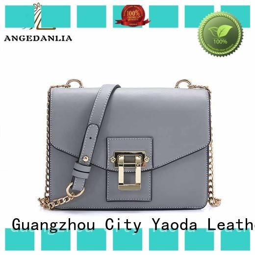 ANGEDANLIA summer green leather bag on sale for women