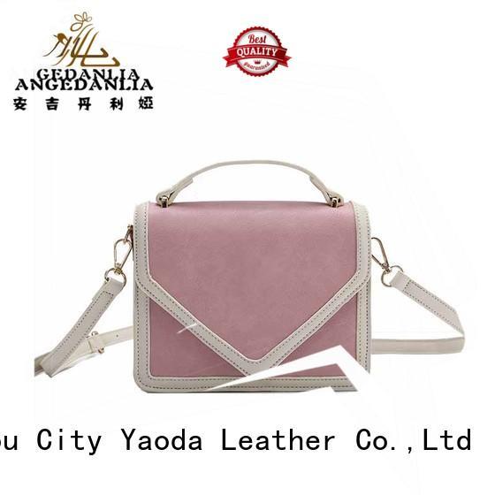 Custom luxury silver leather crossbody bag ANGEDANLIA ladies