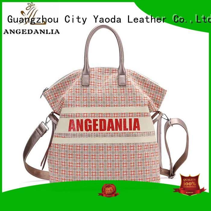 zip natural ANGEDANLIA Brand canvas bag design