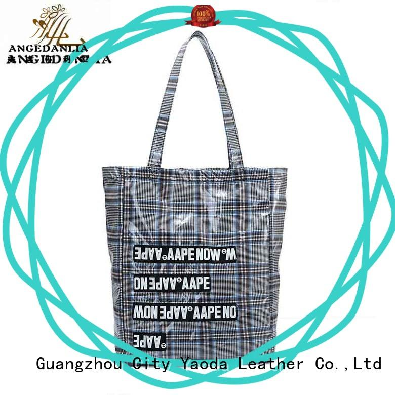ANGEDANLIA customized canvas and leather tote bag on sale for daily life