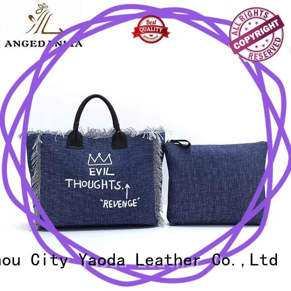 ANGEDANLIA casual personalised canvas bags on sale for travel