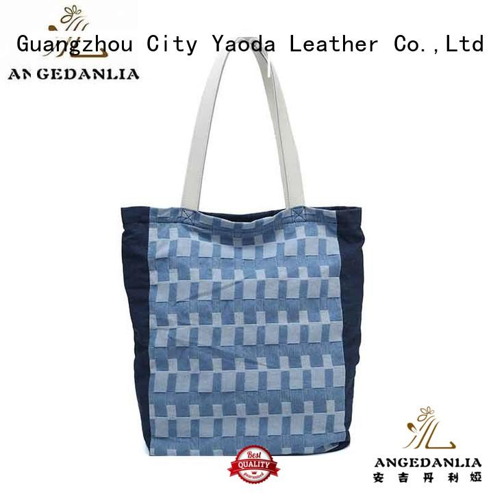 ANGEDANLIA customized custom canvas tote with zipper for travel