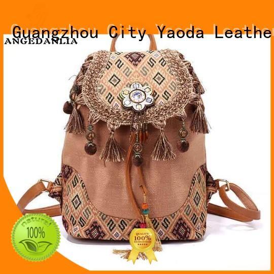 bohemian tote bag linen traveling small ANGEDANLIA Brand boho bags