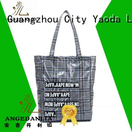 womens Custom travel casual canvas tote bags ANGEDANLIA leather