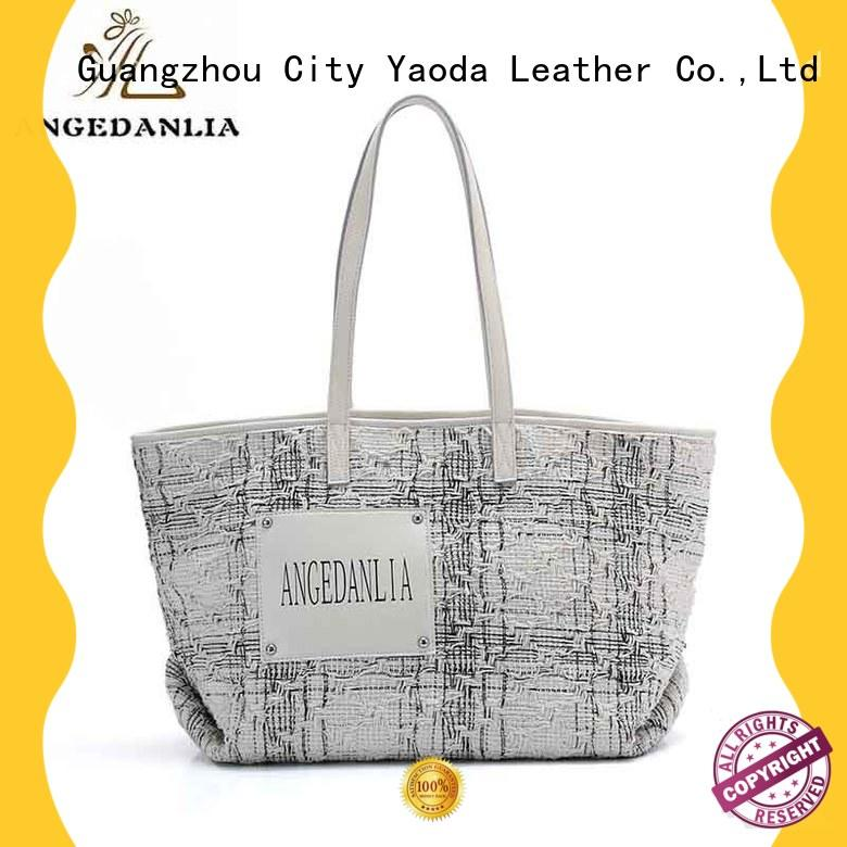 standard canvas and leather tote leisure for lady ANGEDANLIA