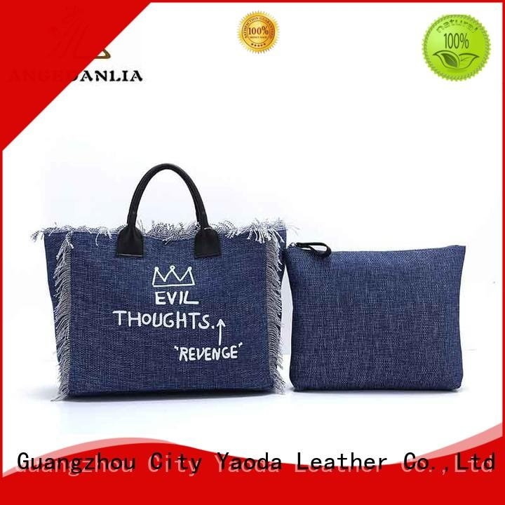 ANGEDANLIA casual canvas cloth bags on sale for shopping