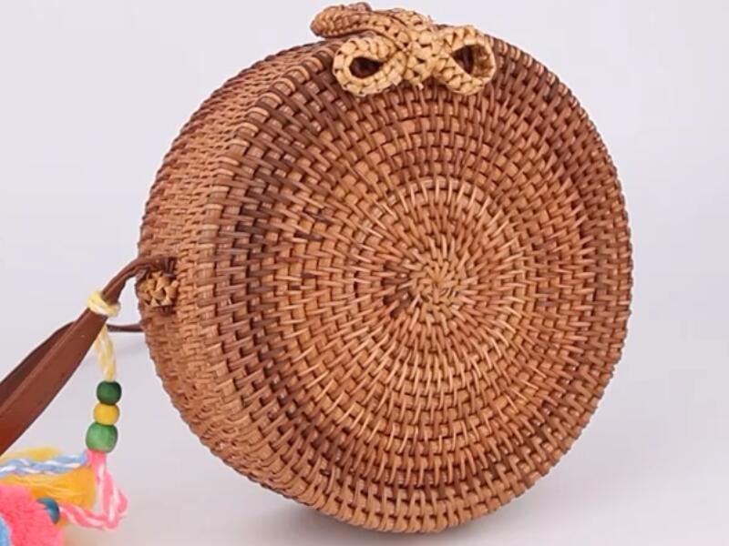 handbags for women pu leather strap shell rattan bag french designer handbags beach rattan bag