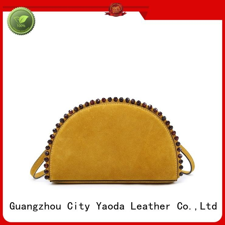 ANGEDANLIA big leather bucket bag supplier for travel