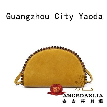 ANGEDANLIA pure soft leather handbags on sale for work